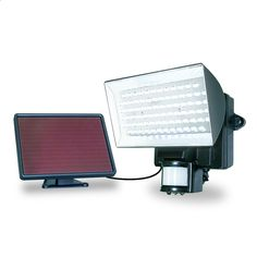 MAXSA 40226 Motion-Activated Solar Powered 80 LED Security Floodlight