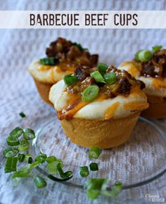 Barbecue Beef Cups from Curtis Cleverly Simple Easy weeknight dinner! Beef Cups Recipe, Beef Recipes, Cooking Recipes, Easy Recipes, Recipies, Cooking Tips, My Favorite Food, Favorite Recipes, Good Food