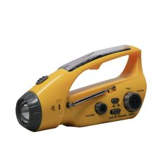 Bear Motion BMXLN-288DS Self-Powered Dynamo AM/FM Radio with Flashlight, Solar Power and Cell Phone Charger - Yellow * Check this awesome product by going to the link at the image.