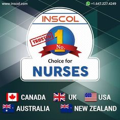 #Nurses, open the world of opportunities! Become a Registered Nurse in Canada, UK, USA, Australia and New Zealand!