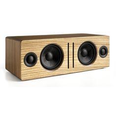 Audioengine: Bluetooth Desktop Speaker - Zebrawood from Turntable Lab. Saved to turntable + stereo. Sonos Wireless Speakers, Wireless Outdoor Speakers, Desktop Speakers, Small Speakers, Bluetooth Gadgets, Powered Speakers, Music System, Speaker Design, Consumer Electronics