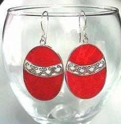 Clip Natural Not Enhanced Coral Fine Earrings Coral Earrings, Drop Earrings, Red, Silver, Ebay, Jewelry, Jewlery, Jewerly, Schmuck