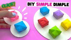 NO TAPE origami diy SIMPLE DIMPLE [diy fidget toys, diy pop it] - YouTube Figet Toys, Diy Toys, Pop It Toy, Diy Fidget Toys, Fun Crafts, Paper Crafts, Diy Origami, Indie Kids, Dimples