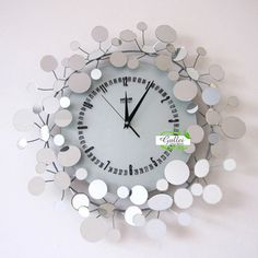 creative metal wall hanging clock anniversary gift for home decor - Decorative Wall Clocks
