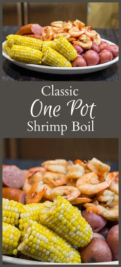 I can't believe how easy and tasty this one pot shrimp boil recipe is to make. This one-pot shrimp boil recipe combined with the flavors of beer and old bay seasoning to create a fun meal any time of year. One Pot Meals, Main Meals, Potted Shrimp, Seafood Boil Recipes, Shrimp Recipes, Boiled Food, Shrimp Dishes, Food For A Crowd, Meals For A Crowd
