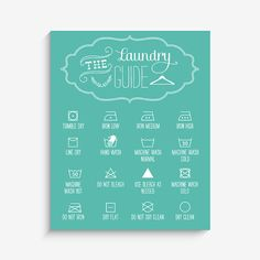 Blue Laundry Room Print by LucyDarlingPrints