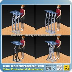 2013 RK clear acrylic church pulpit for sale for speech $69~$99