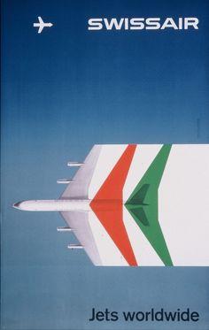 Vintage Swiss Air Poster Art