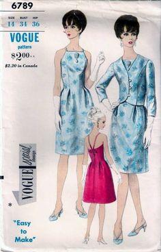 Vintage 60s VOGUE SPECIAL Dress & Jacket Sew Pattern 6789 B34 Size 14