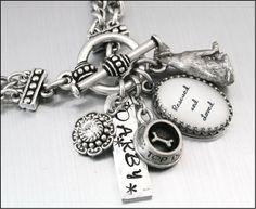Custom Dog Charm Bracelet Dog Jewelry by BlackberryDesigns on Etsy, $48.00
