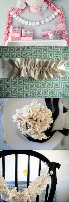 Ruffle Garland <3 {~by the beautiful le Frufrù blog~ in Italian w/translating option;) ~}