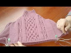 Knitting Pattern for Agnes Round Yoke Sweater - This long sleeved pullover features leaf lace on the yoke. Circular Knitting Needles, Knitting Stitches, Knitting Socks, Free Knitting, Knitting Videos, Knitting For Beginners, Crochet Designs, Knitting Designs, Crochet Placemats