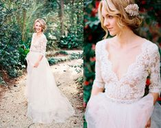 Wedding lace dress, long sleeve lace wedding dress, bohemian wedding dress. boho gown,tulle bohemian gown, tulle skirt