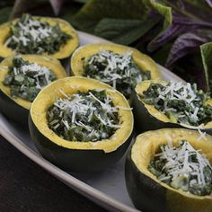 I just love gem squash. For adults, combine it with kale and Blue Cheese Sauce. For children, tone it down with spinach and our regular Cheese Sauce. Kale Recipes, Vegetarian Recipes, Healthy Recipes, Healthy Food, Gem Squash, Blue Cheese Sauce, Appetisers, Brunch, Nutrition
