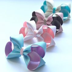 So much love for these colours on our stories today Front to back: Tiffany/wild rose white/peachy pink Pink/mink Ivory/Tiffany All available to order in our 'design your own bow section' Making Hair Bows, Diy Hair Bows, Diy Bow, Little Girl Hairstyles, Diy Hairstyles, My Princess, Girls Bows, Ribbon Bows, Hair Pieces