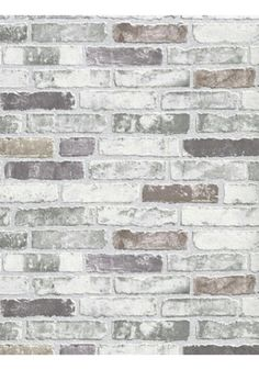 White+Grey+Brick+Wallpaper White+Grey+Brick+WallpaperWhite+Grey+Brick+Wallpaper+is+unpasted+and+has+12.59+inches+pattern+repeat. Collection+name:+BRIX Size+of+each+double+roll+is+21+inches+x+33+feet.+Each+double+roll+covers+about+57.75+square+feet+/+5.36+square+meters. Made+in+Europe. ...