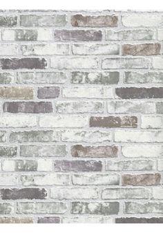 White Grey Brick Wallpaper