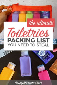 THE ultimate toiletries packing list for travel. This list is all you need to make sure your vacation goes smoothly, and features killer product recommendations to help make your next trip as smooth as possible. #travel #packinglist