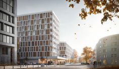 A multi-family building in Warsaw. on Behance Warsaw, Multi Story Building, Behance, Behavior