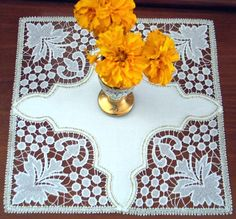 Advanced Embroidery Designs - FSL Battenberg Grapes Lace Corner