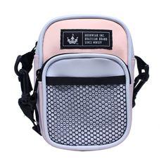 Mini Shoulder Bag Hoshwear Two Color Block - Hoshwear Inc. Moda Streetwear, Shoulder Bags, Baby Blue, Shoulder Purse, Unisex, Necklaces, Sacks, Totes, Shoulder Bag