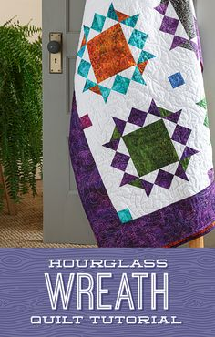 "Jenny demonstrates how to create a festive Hourglass Wreath quilt using 10"" squares of precut fabric and the classic hourglass quilt block in this week's tutorial! Click the link below to watch the free quilting tutorial now! #MissouriStarQuiltCo #MSQC #JennyDoan #HourglassWreathQuilt #HourglassQuilt #HourglassQuiltBlock #QuiltTutorial #QuiltPattern #Quilt #Quilting #LayerCake #LayerCakeQuilt #Sewing #BeginnerQuilting #HowToQuilt #EasyQuiltPattern #DIYHomeDecor #FabricCrafts #Handmade Layer Cake Patterns, Easy Quilt Patterns, Pattern Blocks, Quilting For Beginners, Quilting Tutorials, Layer Cake Quilts, Half Square Triangles, White Candles, Hourglass"