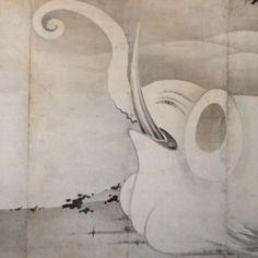 Itō Jakuchū, Elephant and Whale, 1795