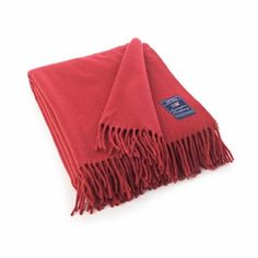 Lexington Company Icons Solid Wool Throw, Red  | The Organizing Store #lexingtoncompany