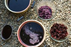 Natural Dyeing: boil things like blackberries, beets, persimmons, and hibiscus to get the dye