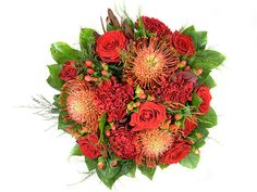france Flowers - Endless Red Christmas Flowers, Send Flowers, Floral Wreath, France, Wreaths, Fall, Red, Decor, Autumn