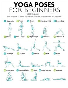 Yoga Poses for Beginners: 20 yoga poses for complete beginners to get started an – Dumbell Workout For Women Best Workout Songs, Fun Workouts, At Home Workouts, Yoga Flow Sequence, Yoga Sequences, How To Get Abs, How To Do Yoga, Yoga Routine For Beginners, Basic Yoga For Beginners