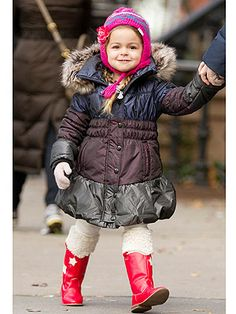 Tabitha Broderick (daughter of Sarah Jessica Parker) spotted in Catimini Coat
