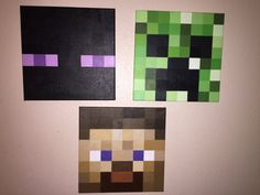 Minecraft Creeper wall canvas by PixelsLife on Etsy