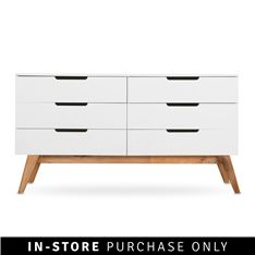 @Home - loft chest of drawers walnut  lacquered mdf & solid wood Dimensions: H80 x W45 x D150cm R4999