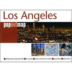Universal Map Los Angeles California PopOut Map (Set of 2)
