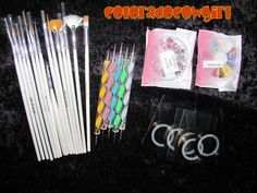'BNWT Nail Decoration Kit' is going up for auction at  7am Wed, Nov 6 with a starting bid of $10.