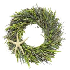 "Highland Dunes Preserved Ocean 10"" Real Botanical Wreath 