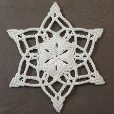 Tutorial: Christmas snowflake ornament III