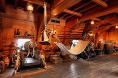 Inside a galleon..
