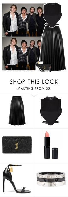 """At the Capitol Records Hollywood Gala w/ 5SOS"" by amberamelia-123 ❤ liked on Polyvore featuring Aviù, Morgan, Yves Saint Laurent, Tom Ford and Cartier"
