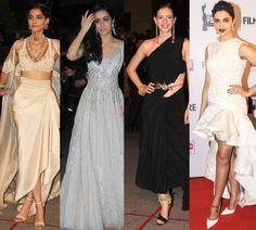 Here are some of the Memorable Moments:  Sonam Kapoor, Shraddha Kapoor, Kalki Koechlin & Deepika Padukone at 60th Filmfare Awards, Mumbai