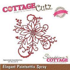 Die - Elites - Elegant Poinsettia Spray - 8,9 x 8,9 cm