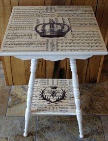 Cottage Decoupage Table