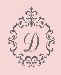 Baby Nursery Decals Single Initial Decal by LuluGirlDesigns