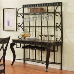 Shop for Bakers Rack at Del Sol Furniture. Our large selection, expert advice, and excellent prices will help you find Bakers Rack that fit your style and budget. Acme Furniture, Funky Furniture, Dining Furniture, Marble Shelf, Bakers Rack, Iron Decor, Wine Storage, Entryway Tables, Dining Room