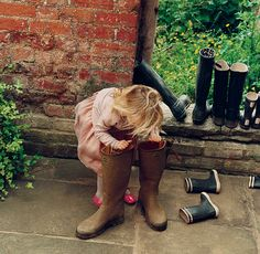 I basically want to live in my rubber boots.