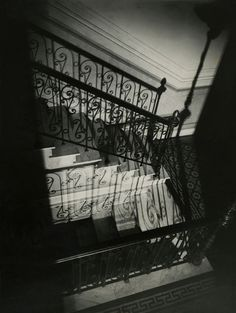 """Exhibition: 'From Bauhaus to Buenos Aires: Grete Stern and Horacio Coppola' at the Museum of Modern Art (MoMA), New York. """"It is the underrated photographs of Horacio Coppola that are the gems in this posting."""" http://artblart.com/2015/10/01/exhibition-from-bauhaus-to-buenos-aires-grete-stern-and-horacio-coppola-at-moma-new-york/ Photo: Horacio Coppola (Argentine, 1906-2012) 'Untitled (Staircase at Calle Corrientes)' 1928"""