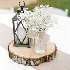 Wedding Tree Slice Centerpiece - Rustic Wedding - Darby Smart