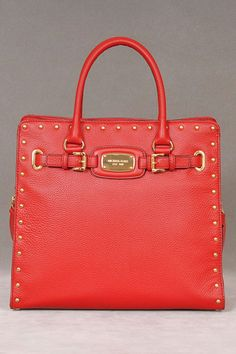 MICHAEL Michael Kors Hamilton Rock & Roll N/S Tote In Red