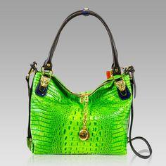 $699.60+-+Marino+Orlandi+Designer+Green+Alligator+Leather+Large+Crossbody+Bag+[02MO4005ALGR]+:+Italian+Leather+Handbags,+Top+Rated+Designer+Hand+Bags,+Trendy+Designer+Handbags
